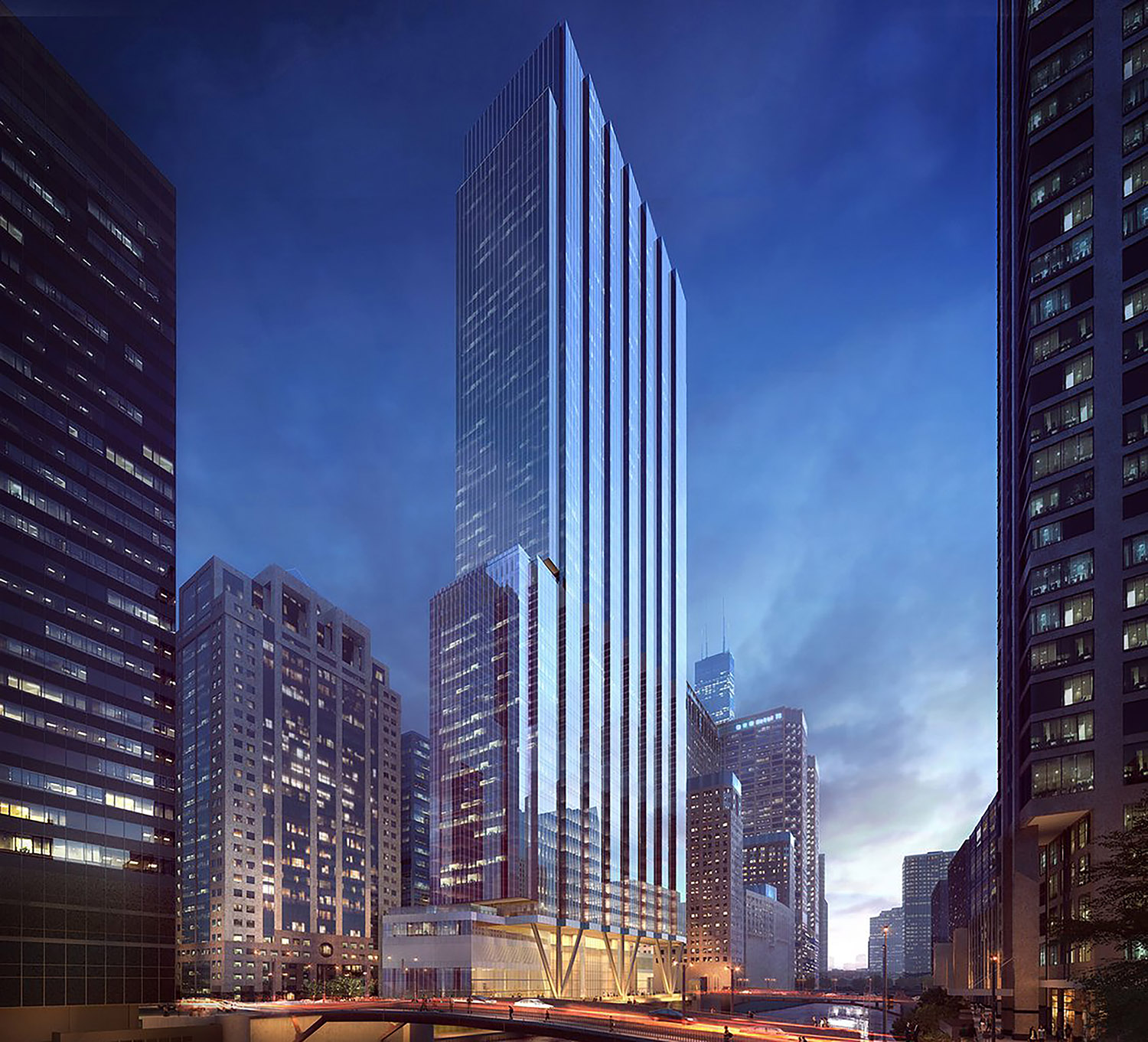 110 N Wacker. Rendering courtesy of Goettsch Partners