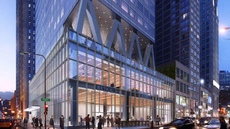300 N Michigan Avenue Retail Podium. Rendering by bKL Architecture LLC