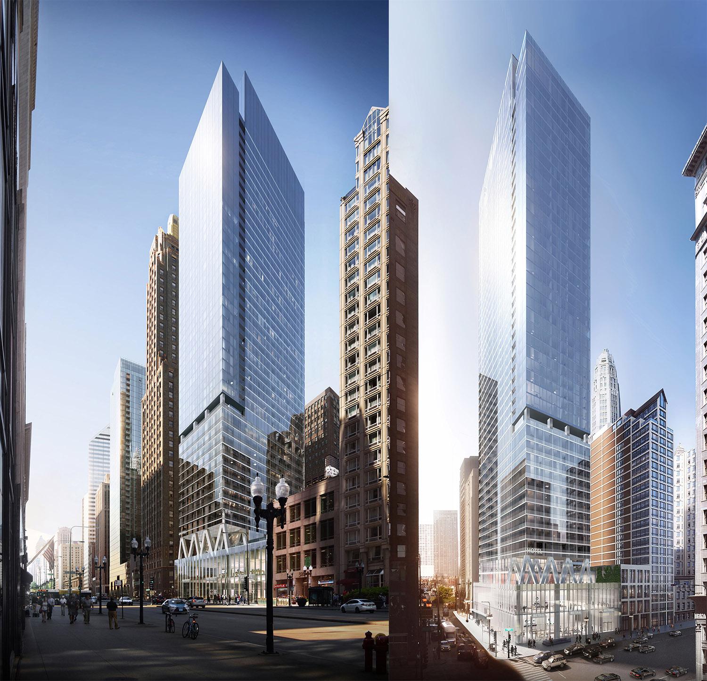 300 N Michigan Avenue. Renderings by bKL Architecture LLC