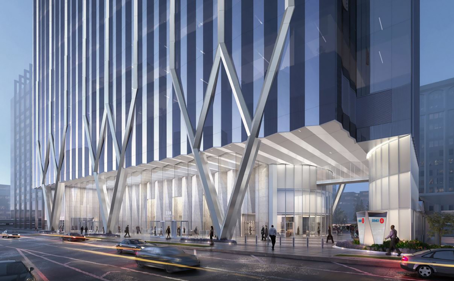 Rendering of Ground Floor of Union Station Tower. Rendering Courtesy of Goettsch Partners
