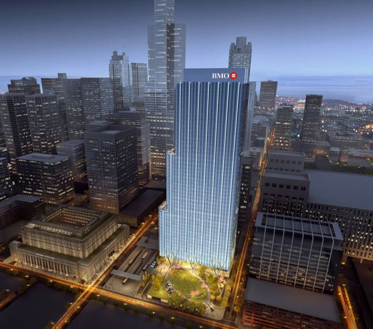 BMO Tower. Rendering by Goettsch Partners