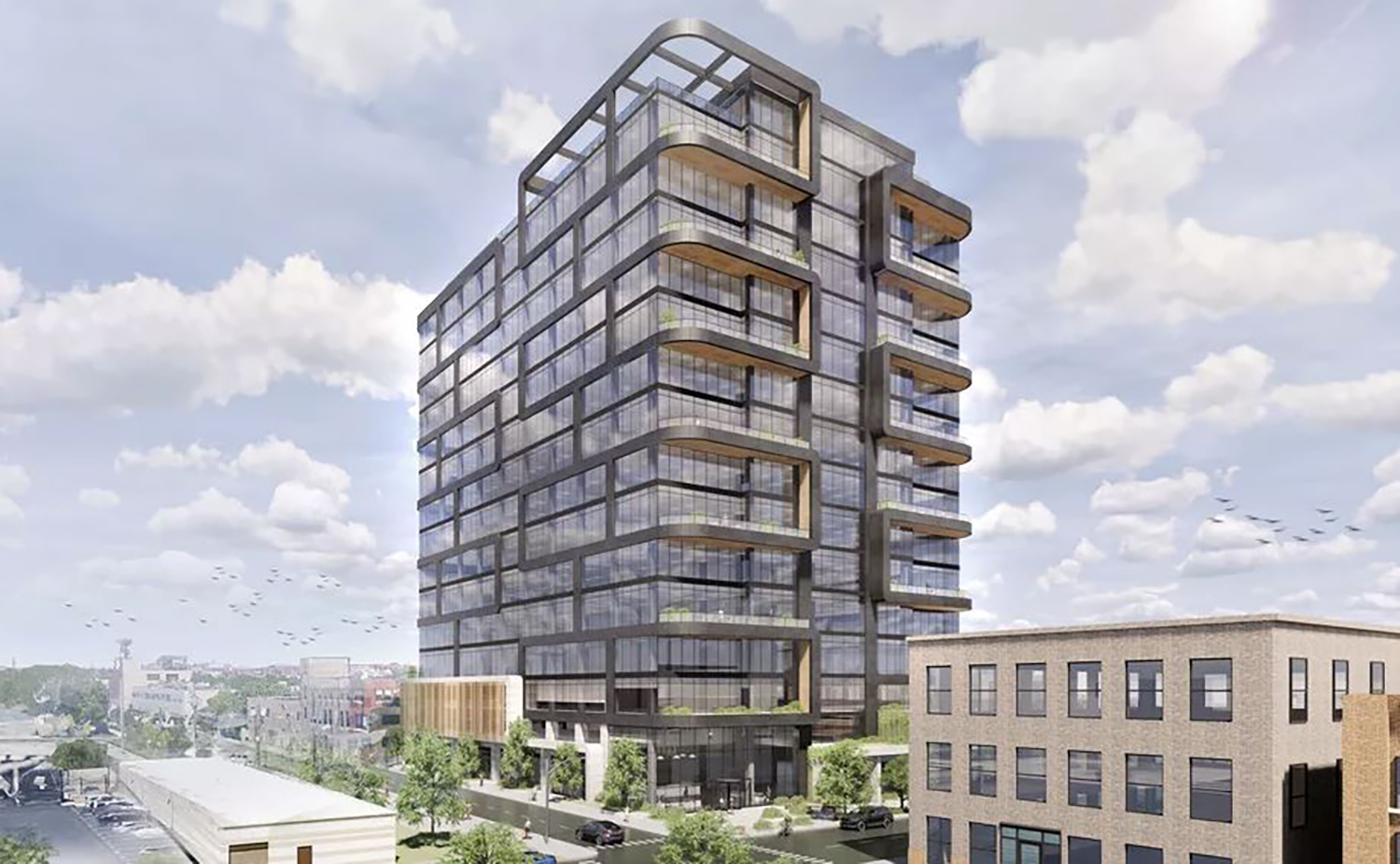 Rendering of Fulton Labs at 400 N Aberdeen Street. Rendering courtesy of ESG Architects