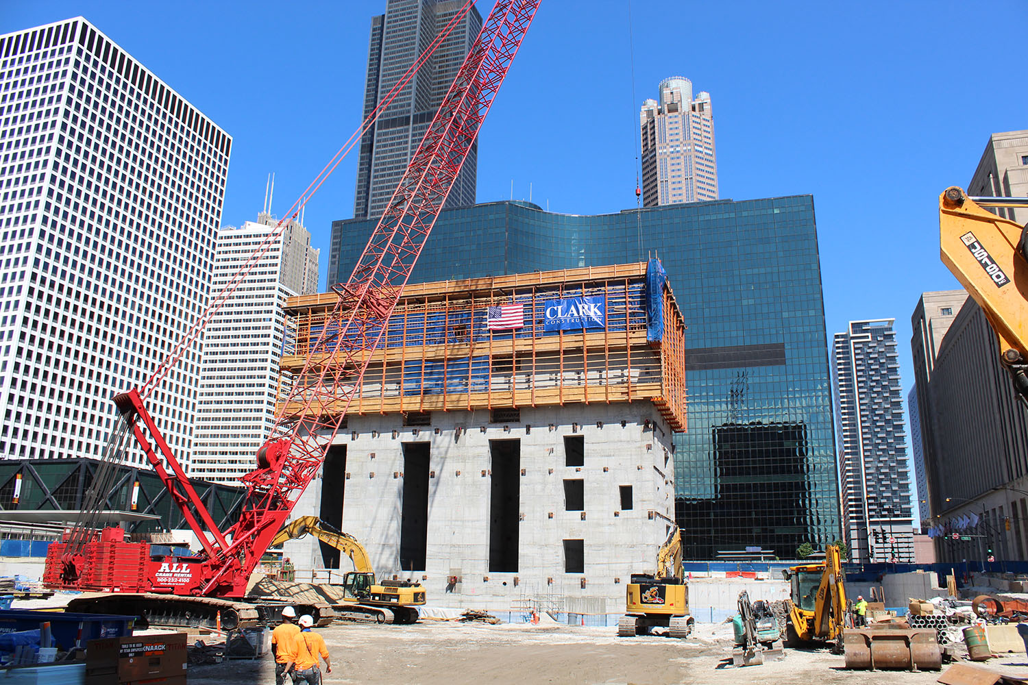Construction Progress at Union Station Tower. Image Courtesy of Jack Crawford