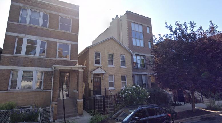 1115 N Paulina Street, facing east from N Paulina Street