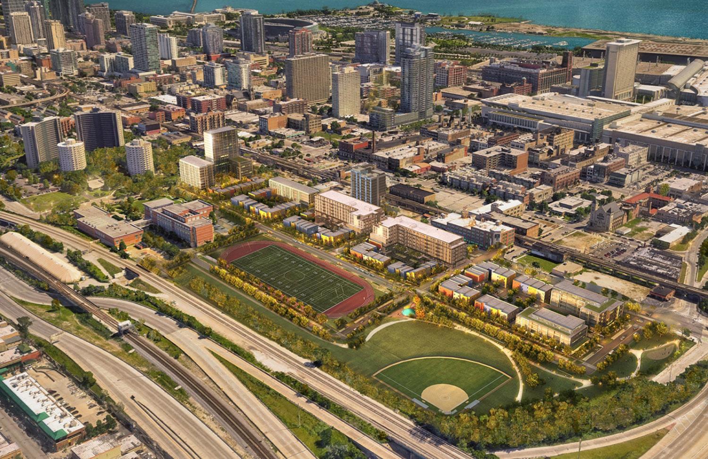 Southbridge Development Masterplan. Rendering by Antunovich Associates