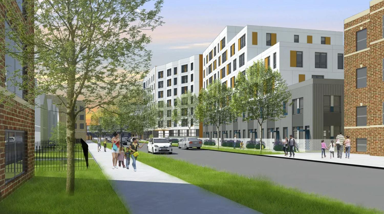 Emmett Street Apartments. Rendering by Landon Bone Baker Architects