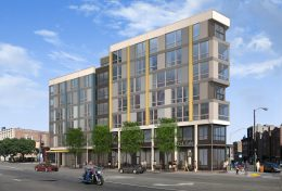 Rendering of 1122 W Chicago Avenue, from W Chicago Avenue