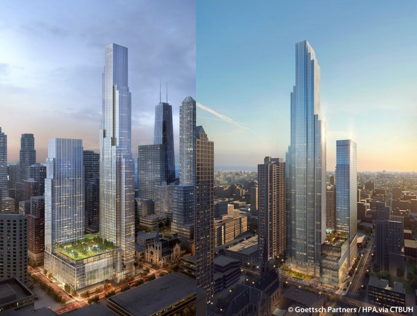 Renderings of One Chicago Square