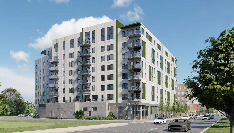 1140 W Erie Street. Rendering by FitzGerald Associates