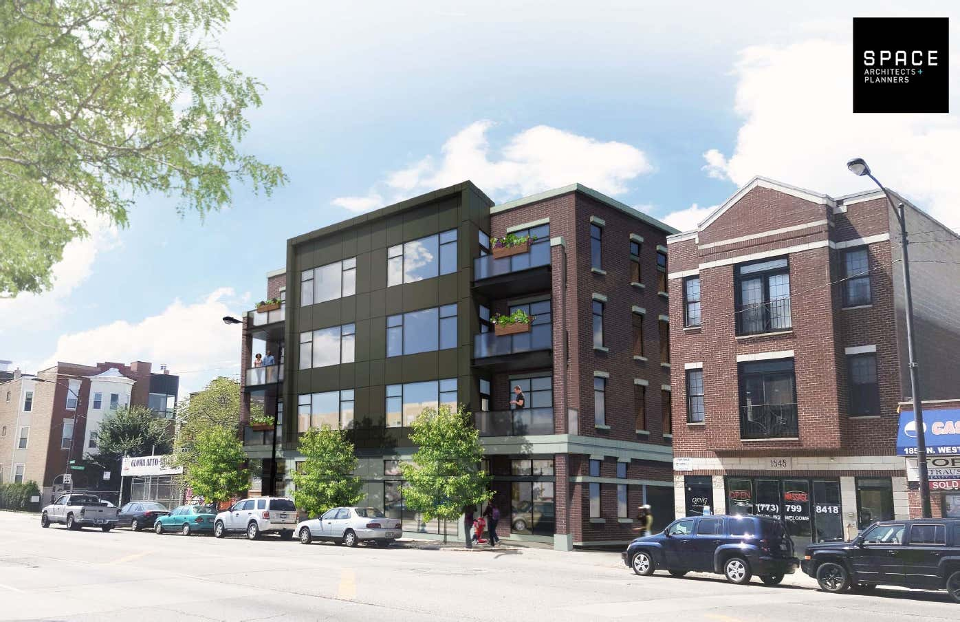 1838 N Western Avenue Development. Rendering by SPACE Architects + Planners