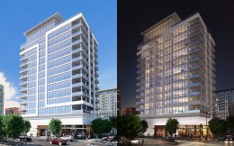 Bentham condos day and night renderings