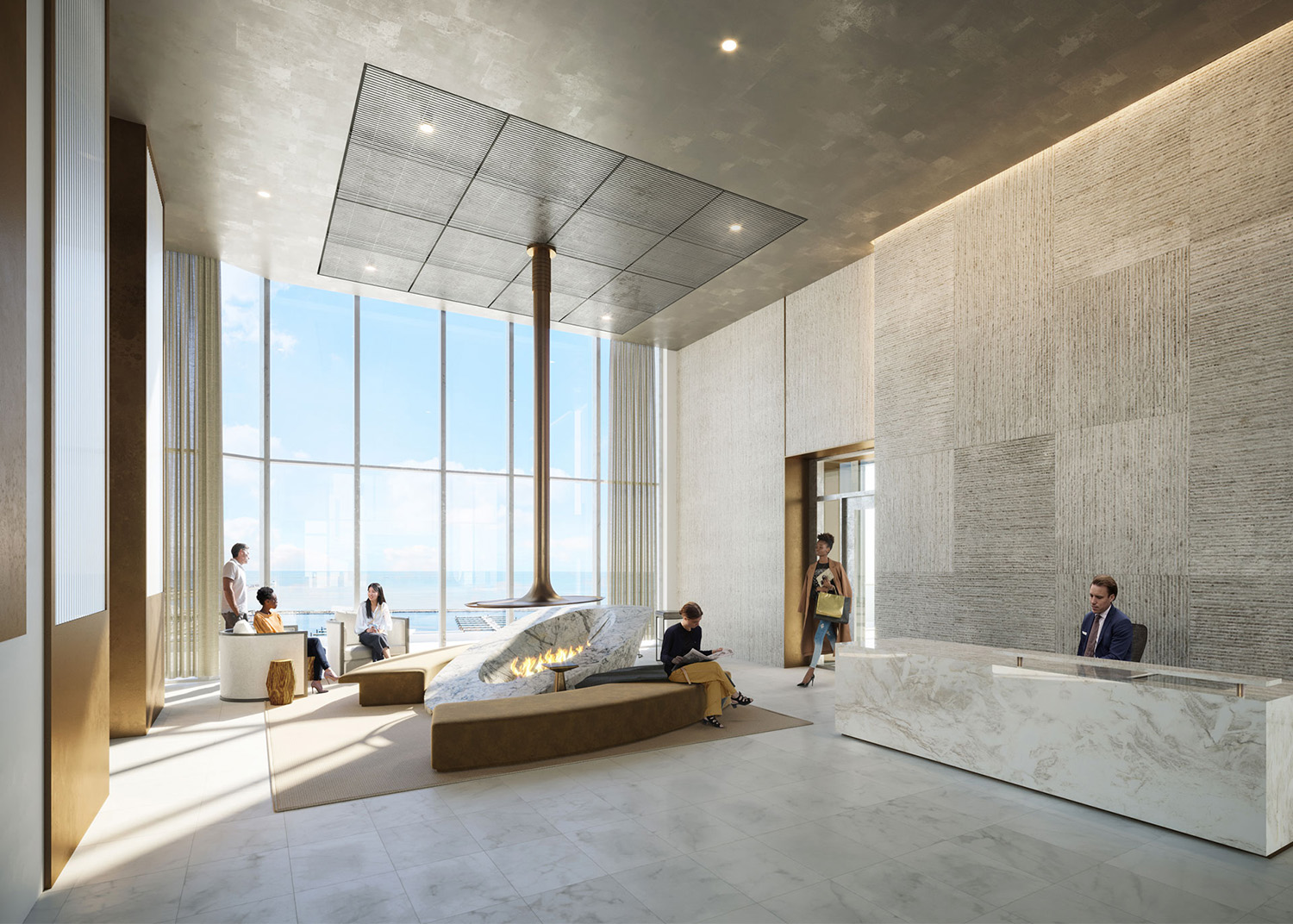 Cirrus Lobby. Rendering by bKL Architecture LLC