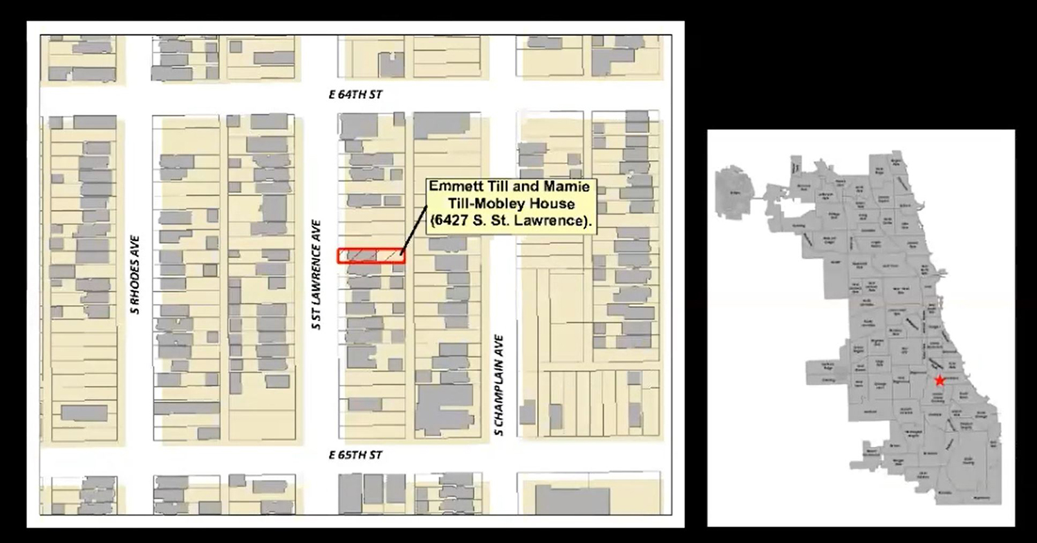 Emmett Till and Mamie Till-Mobley House Site. Diagram by CCL