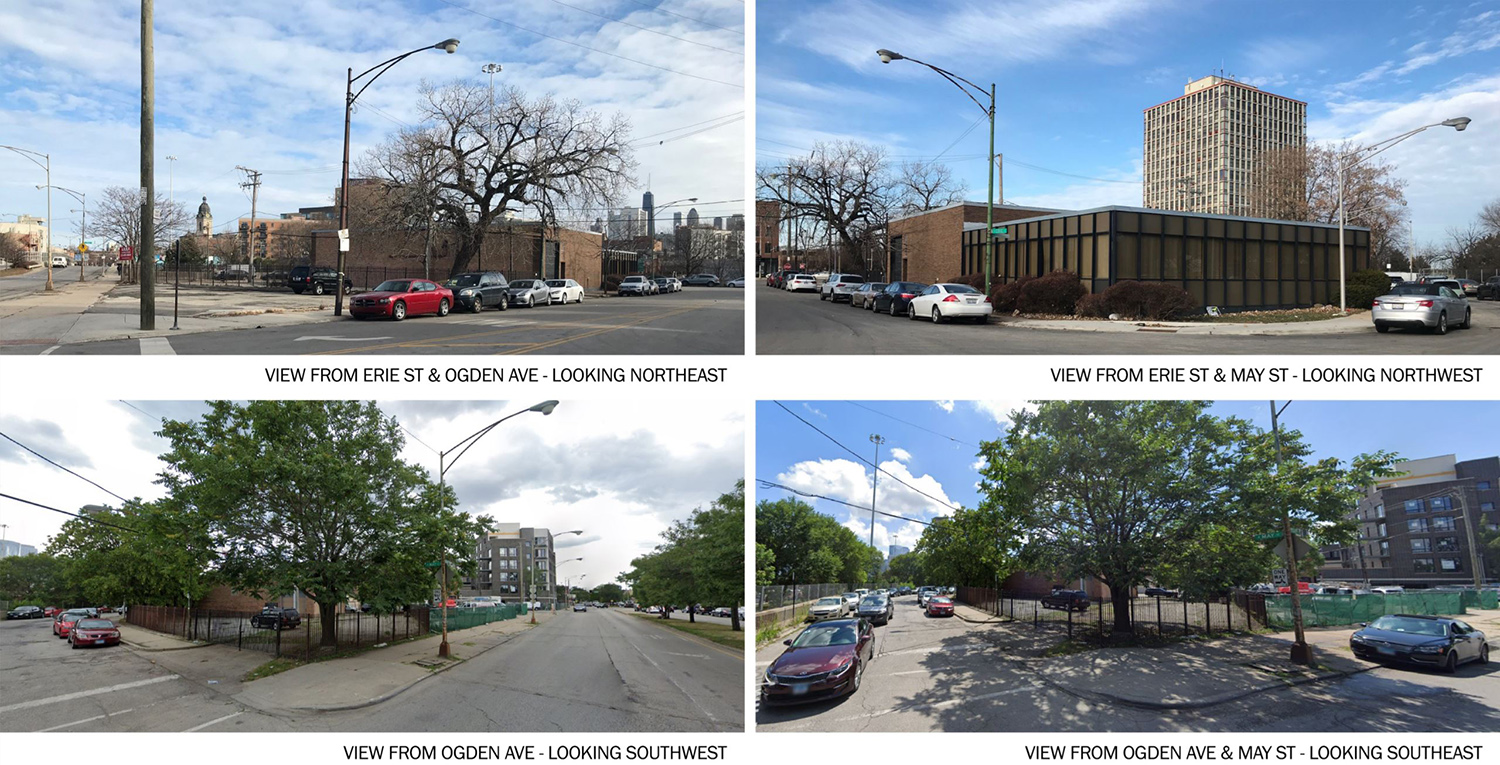 Existing Site Conditions for 1140 W Erie Street. Images by Chicago DPD and Plan Commission