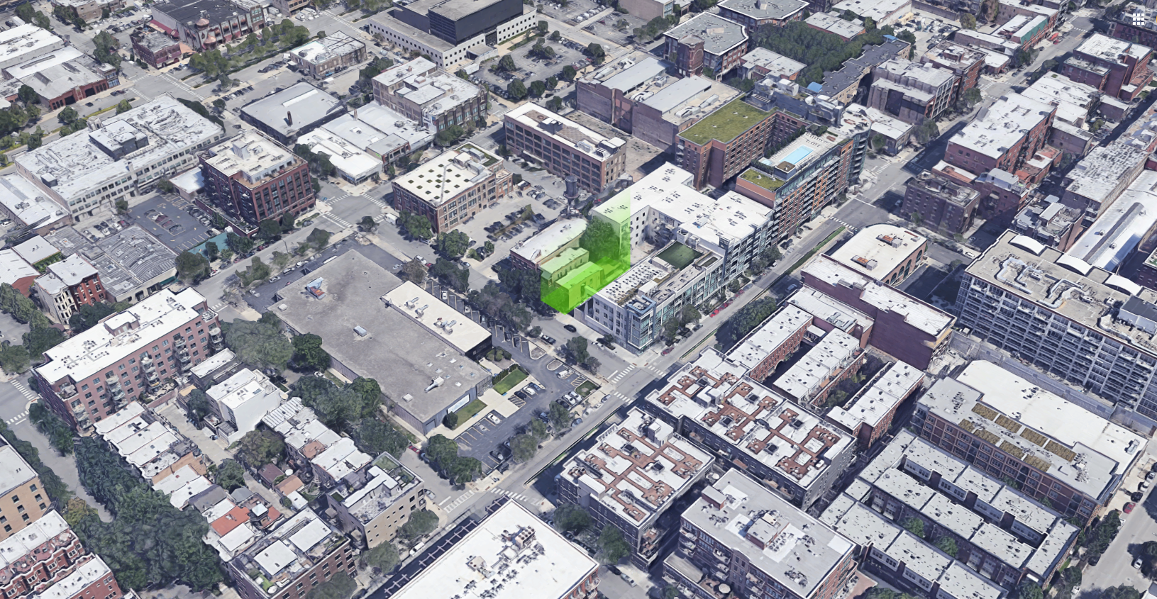 15 N Elizabeth Street property (green)