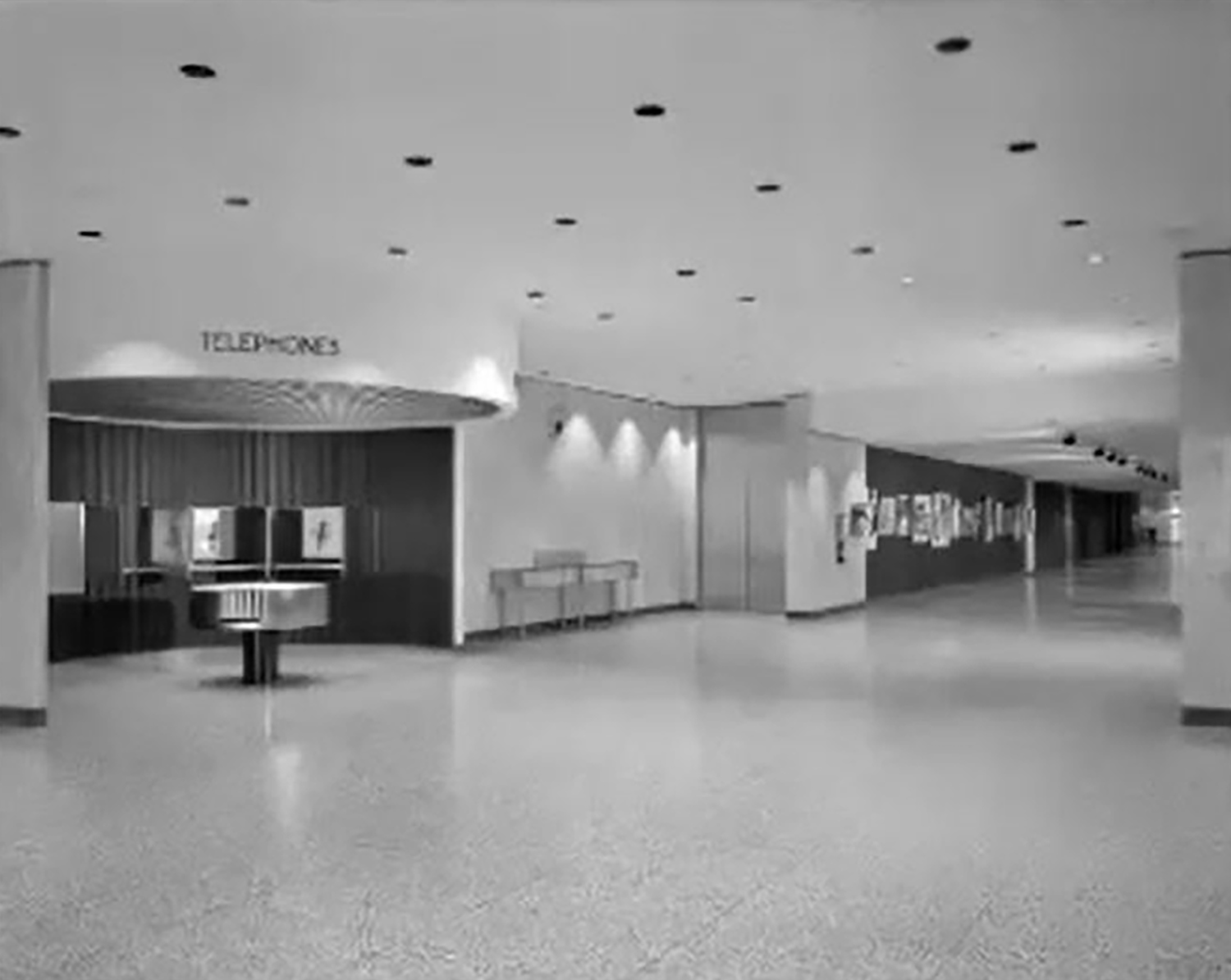 Illinois Bell Building Lobby circa 1966. Image by Chicago History Museum