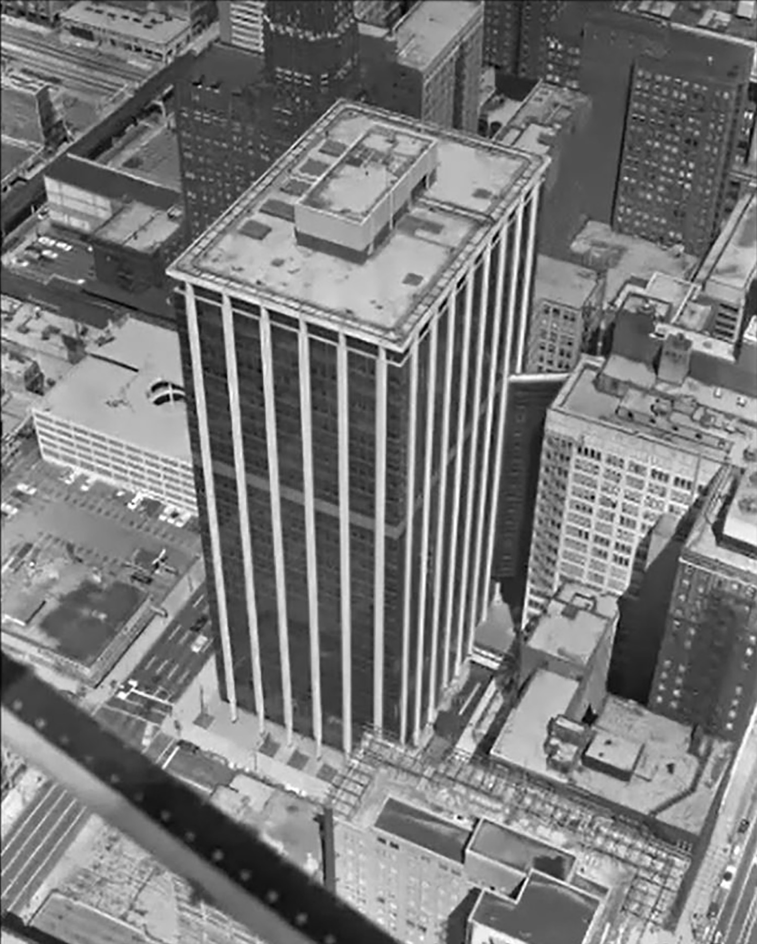 Illinois Bell Building circa 1970. Image by Chicago History Museum