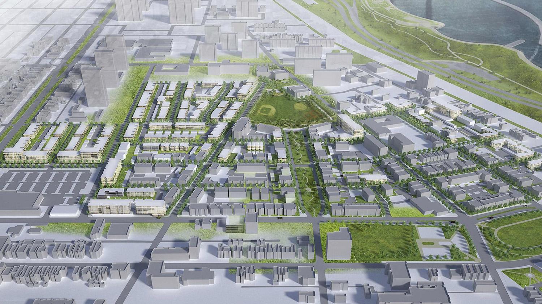Oakwood Shores Redevelopment Master Plan. Rendering by Gensler