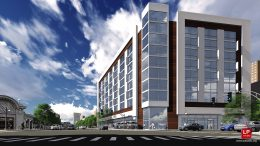 Previous Development Scheme for 4601 N Broadway. Rendering by MX3 Architects