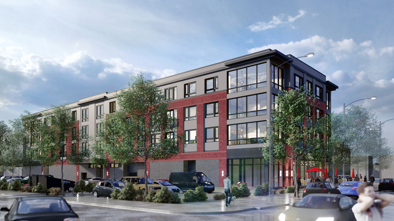 Rear View of 508 E Pershing. Rendering by Nia Architects