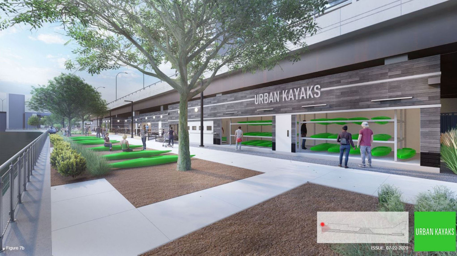 Urban Kayaks. Rendering by JLK Architects