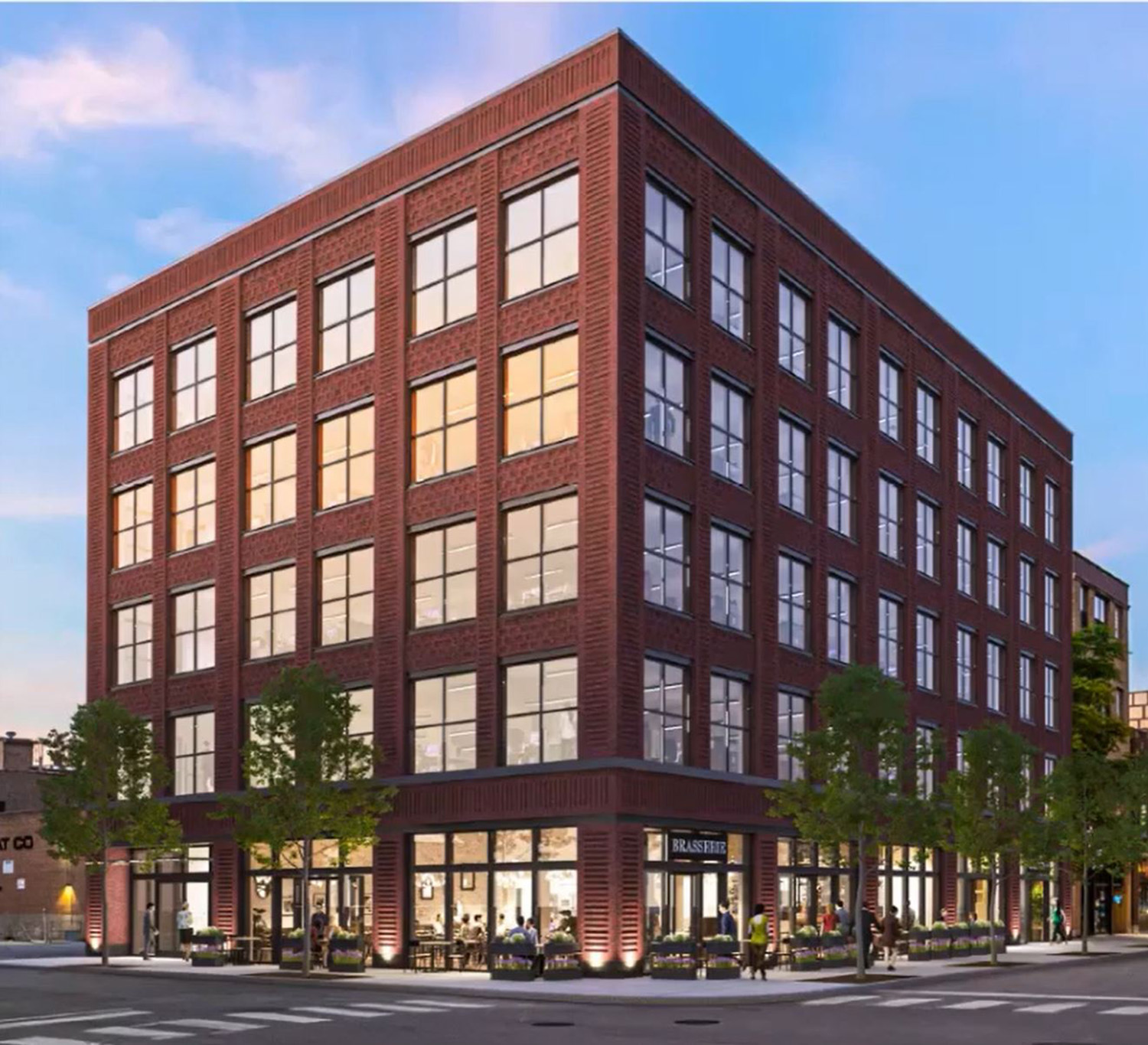 View of 1020 W Randolph Street. Rendering by OKW Architects