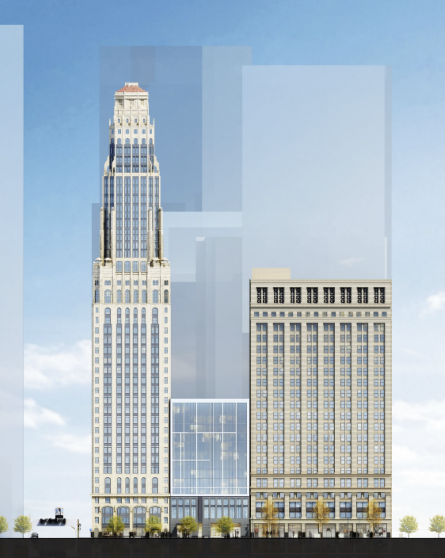 180 W Randolph Street. Rendering by DLR Group