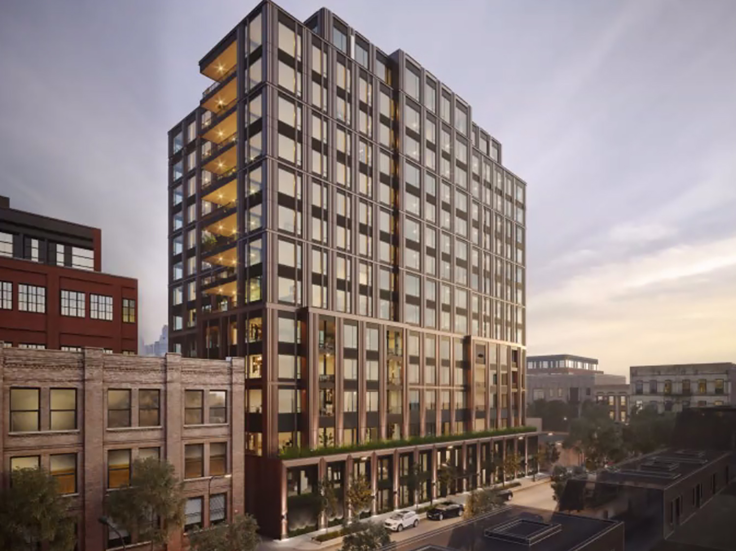 19 N May Street. Rendering by Lamar Johnson Collaborative
