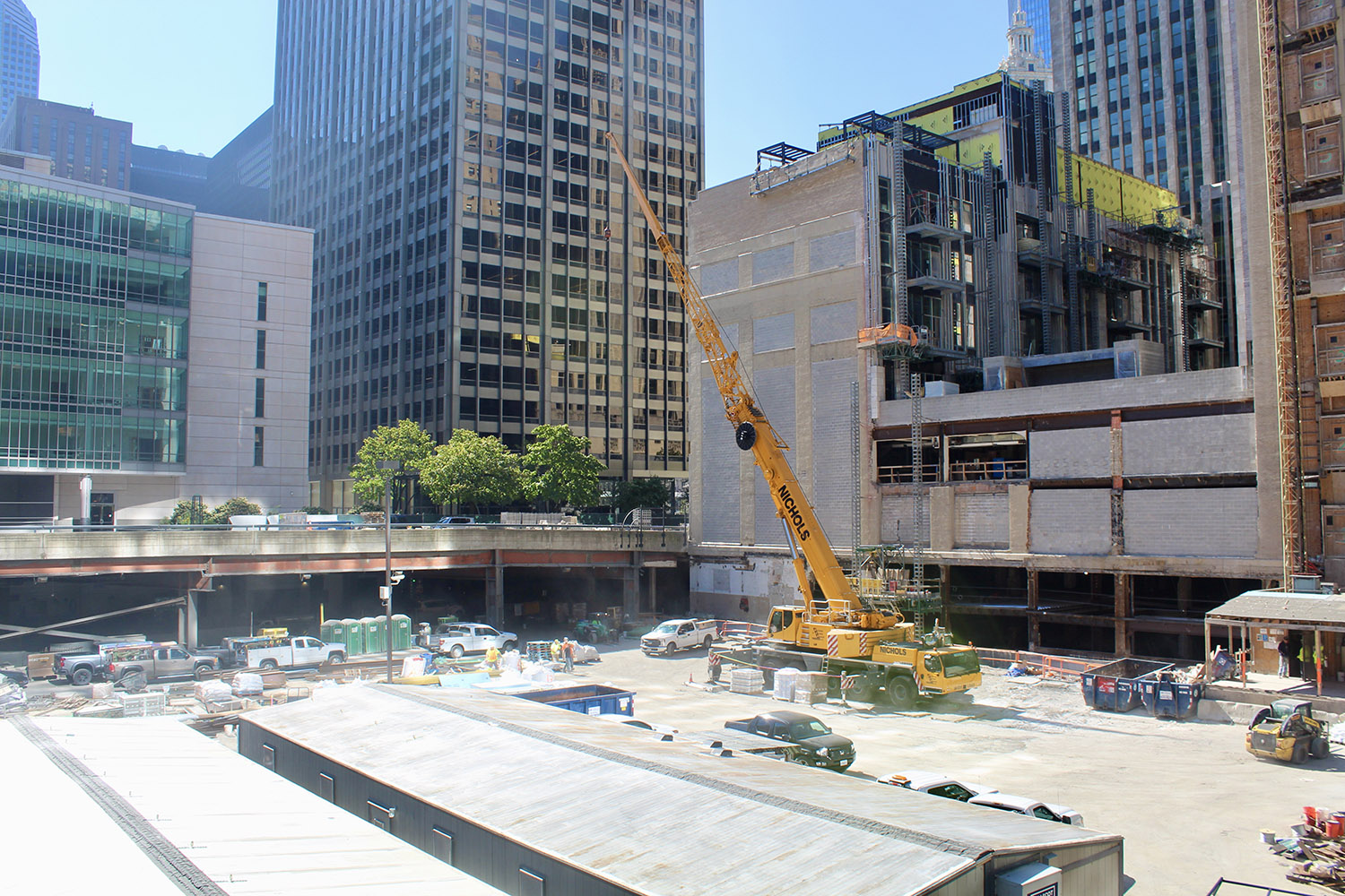 View of Tribune East Tower Site. Image by Jack Crawford