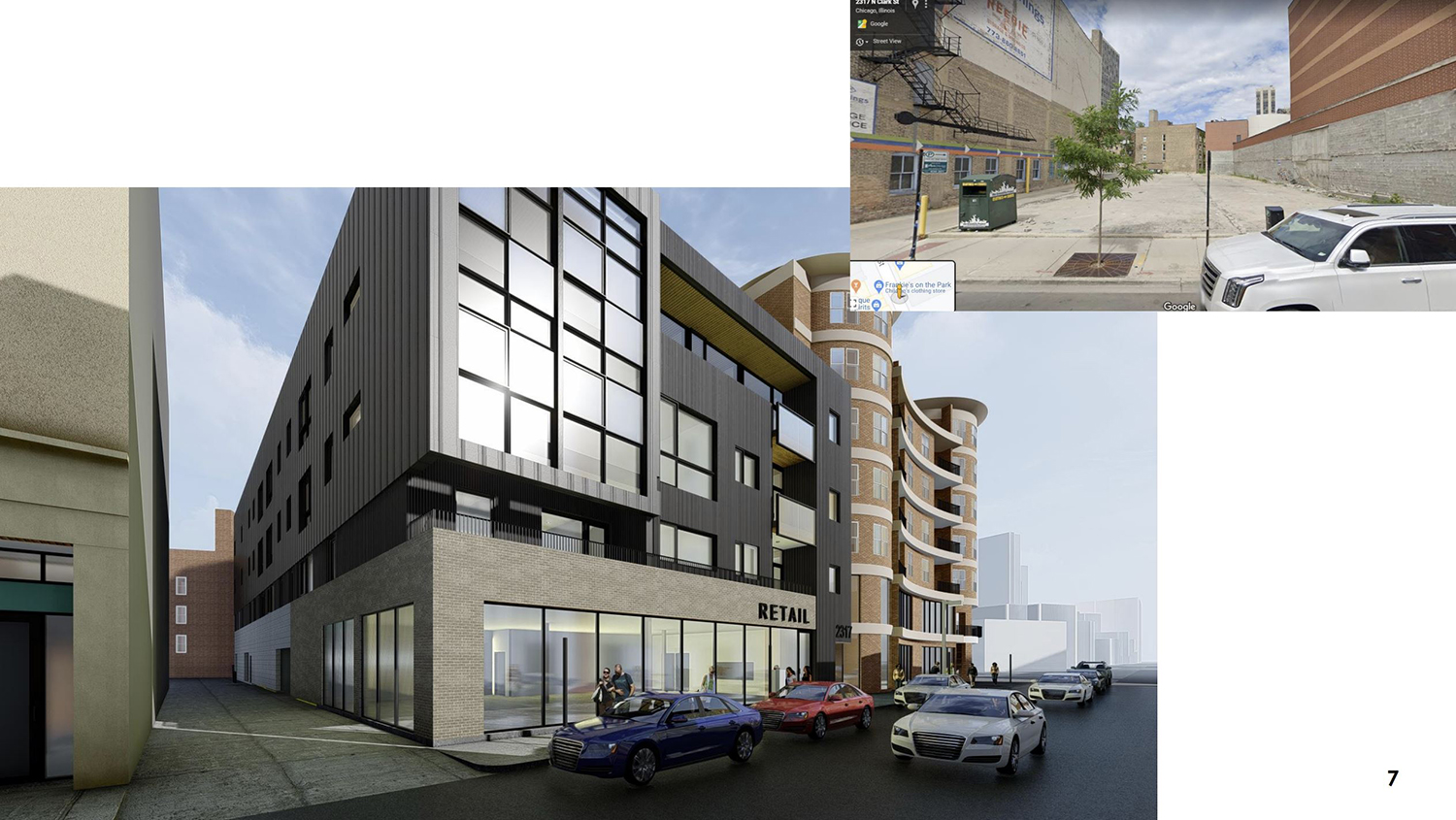 2317 N Clark Street. Rendering by 2R/Z Architecture