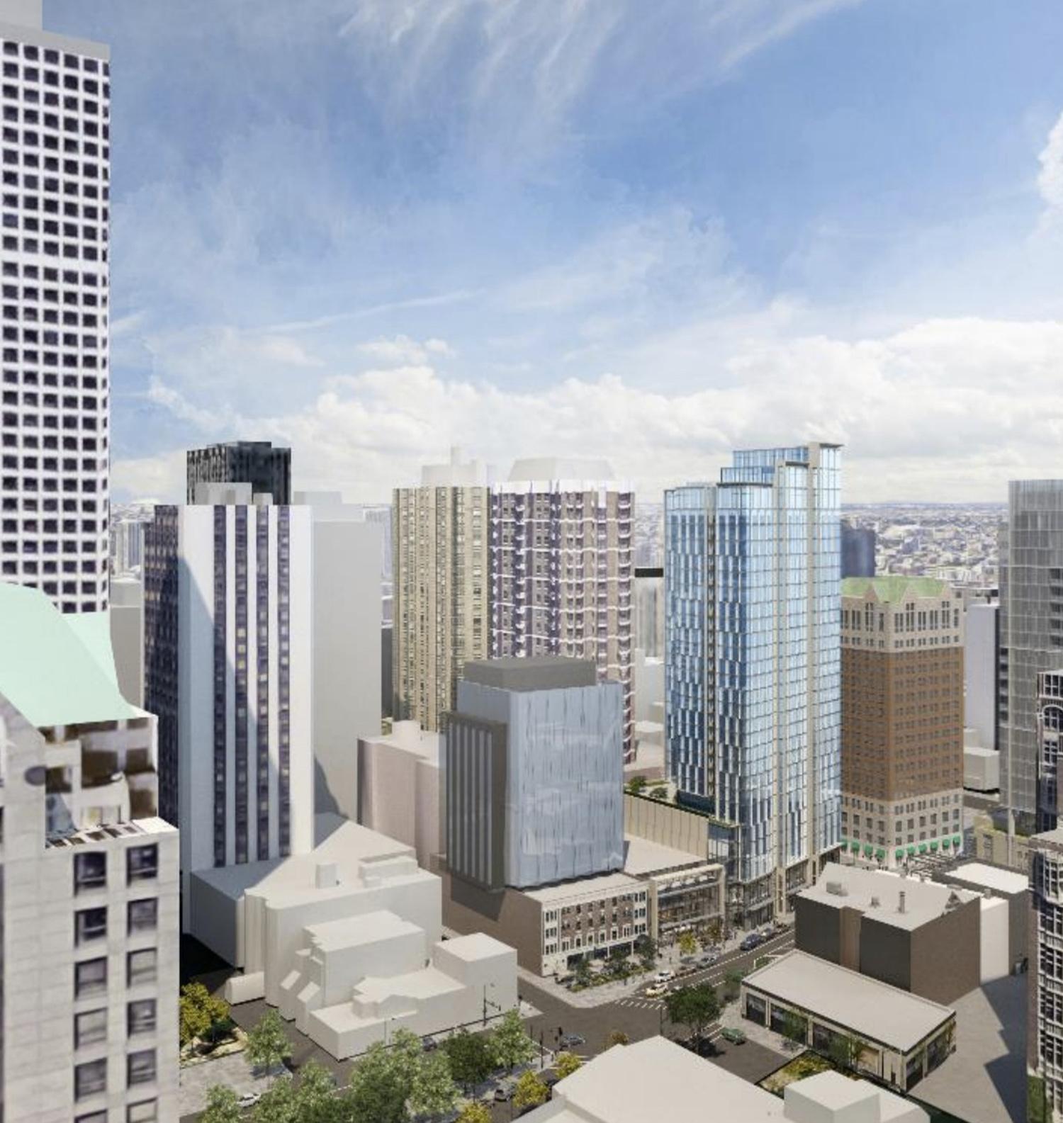 Aerial View of 1130 N State Street. Rendering by SCB