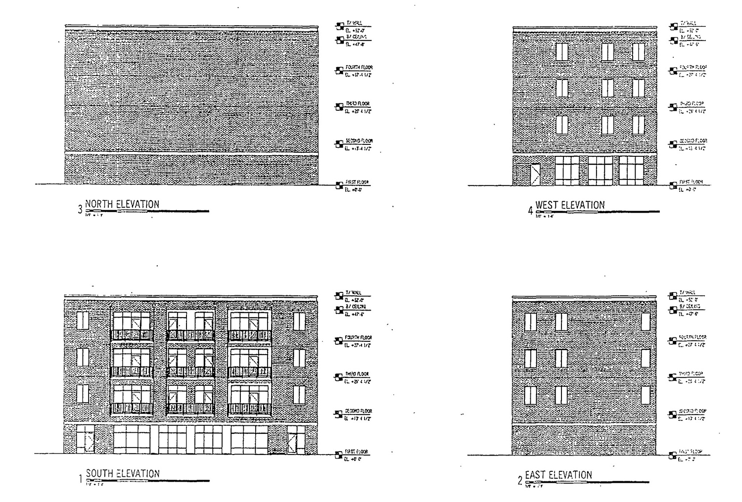 Mixed-Use Building Elevations at 1601 N Western Avenue. Drawing by Design Studio 24