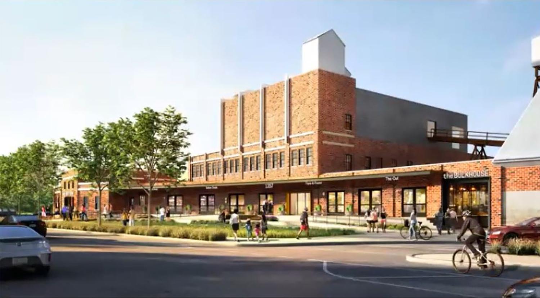 Package Buildings at Morton Salt Redevelopment. Rendering by Lamar Johnson Collaborative