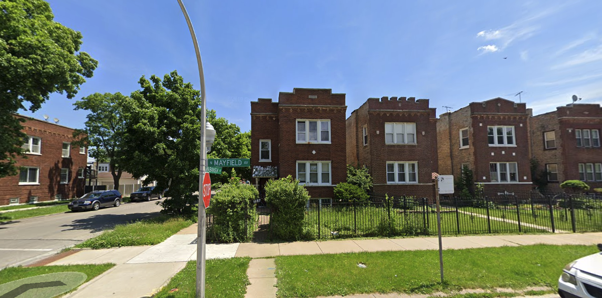 1657 N Mayfield Avenue former structure