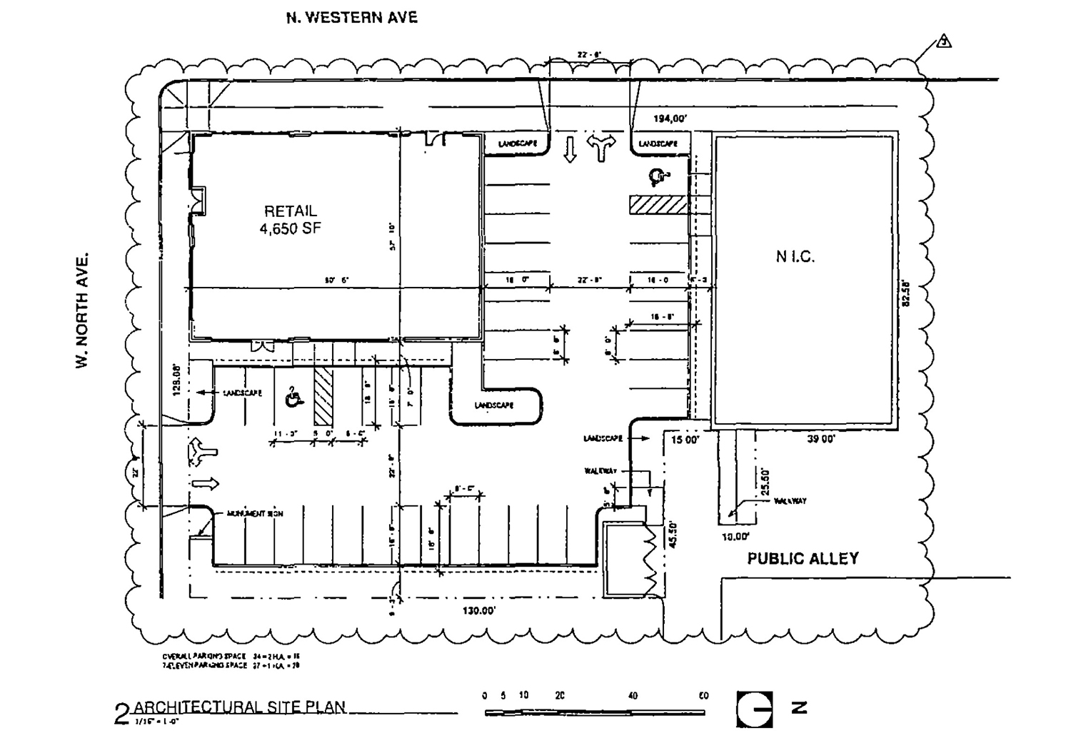 Site Plan for 1601 N Western Avenue. Drawing by Design Studio 24