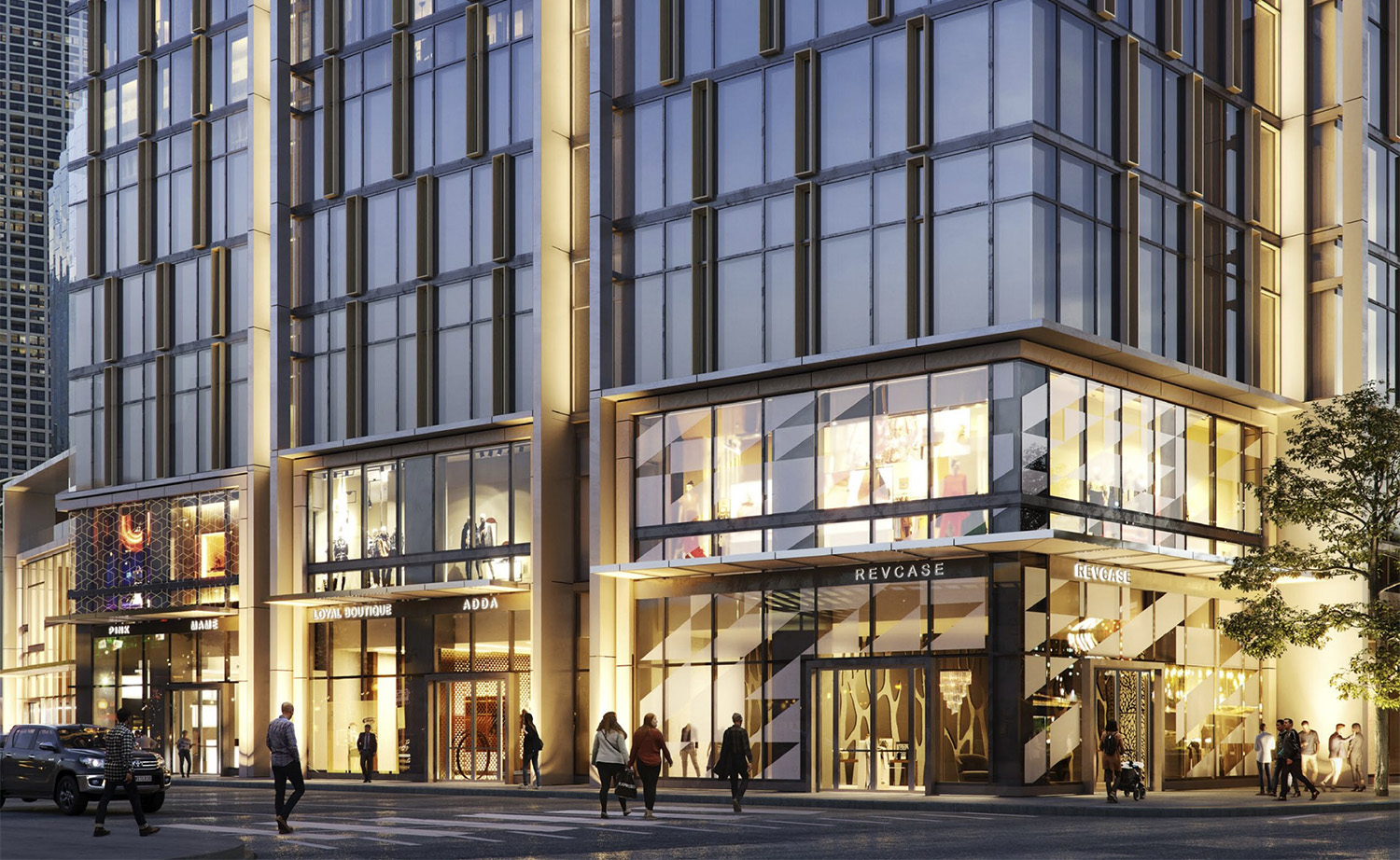 Streetscape View of 1130 N State Street. Rendering by SCB