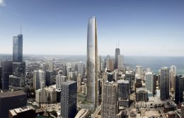 Tribune East Tower. Rendering by Adrian Smith & Gordon Gill Architecture