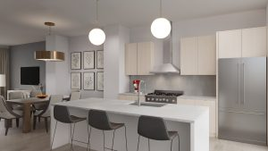 Alcove Wicker Park townhome kitchen and dining