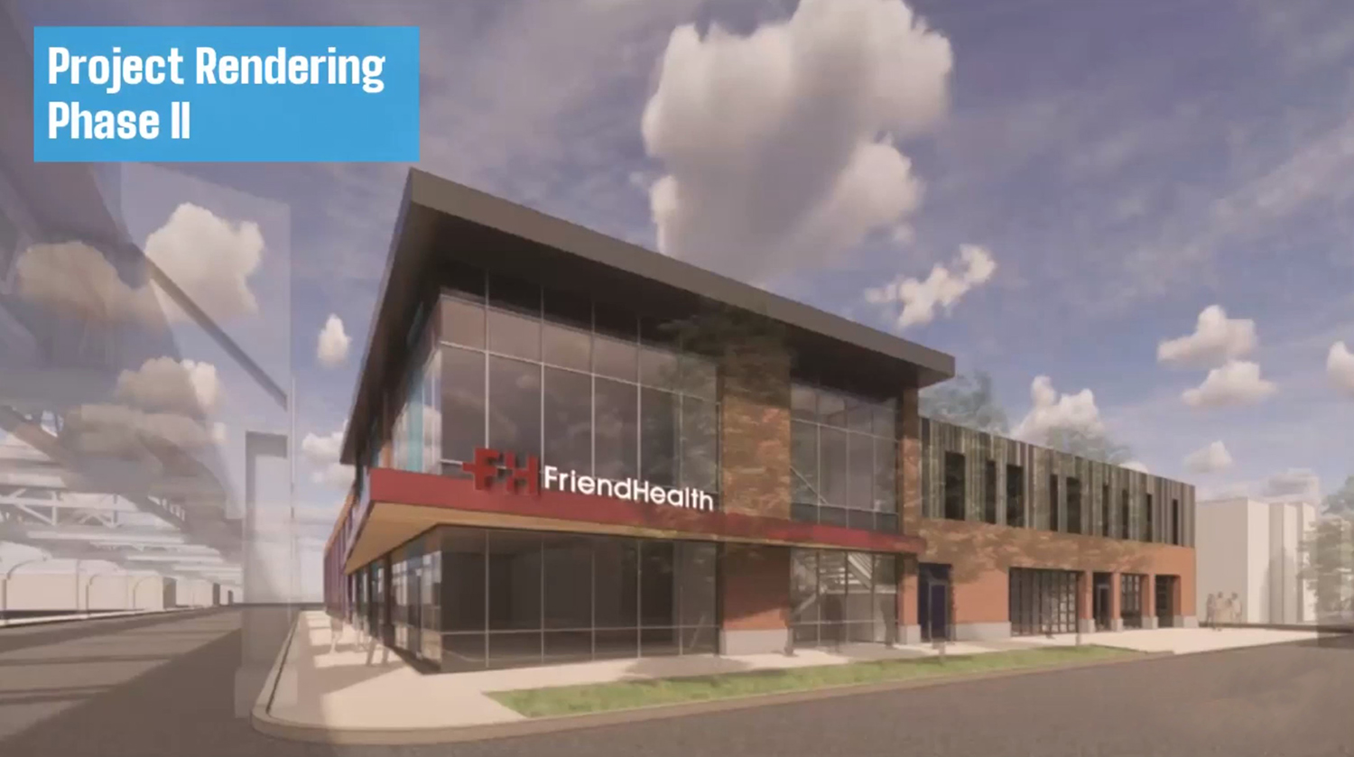 Annex Building at Friend Health Medical Center. Rendering by Friend Health and DL3 Realty
