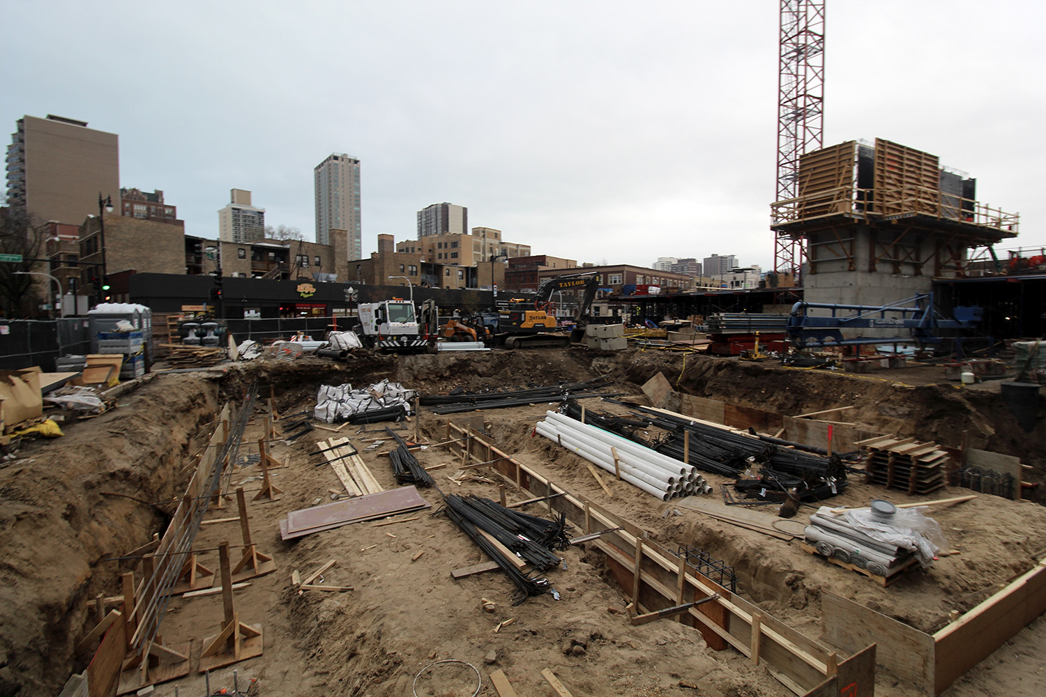 Construction at Optima Lakeview. Image by Jack Crawford