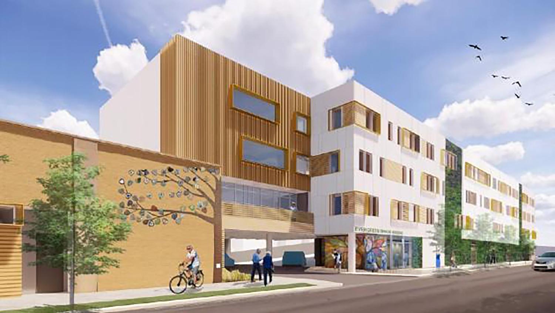 Evanston Senior Housing. Rendering by UrbanWorks