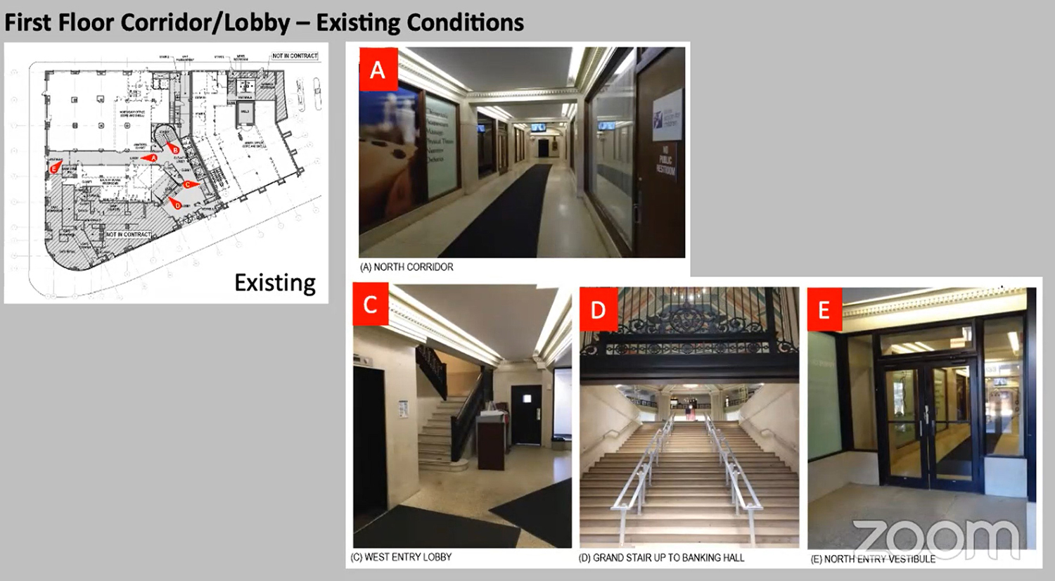Existing Conditions for First Floor for 4753 N Broadway. Drawings by Level Architecture