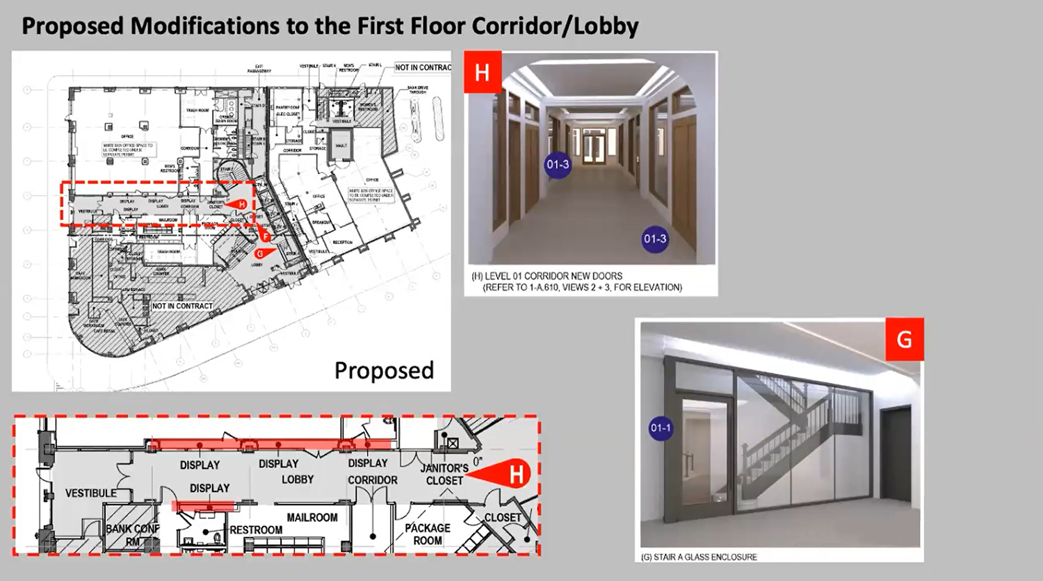 First Floor Modifications for 4753 N Broadway. Drawings by Level Architecture