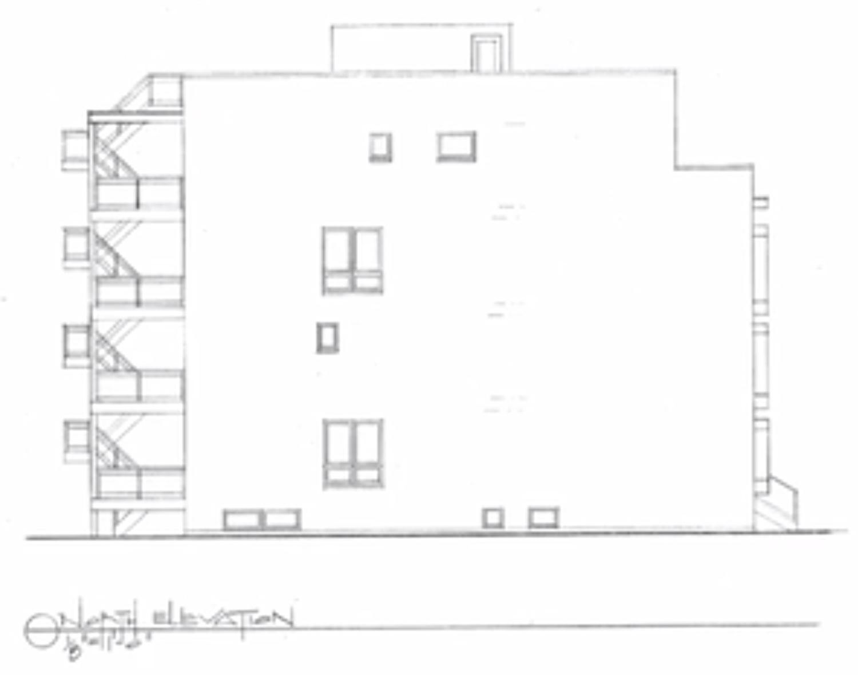 North Elevation for 719 N Elizabeth Street. Drawing by Hanna Architects