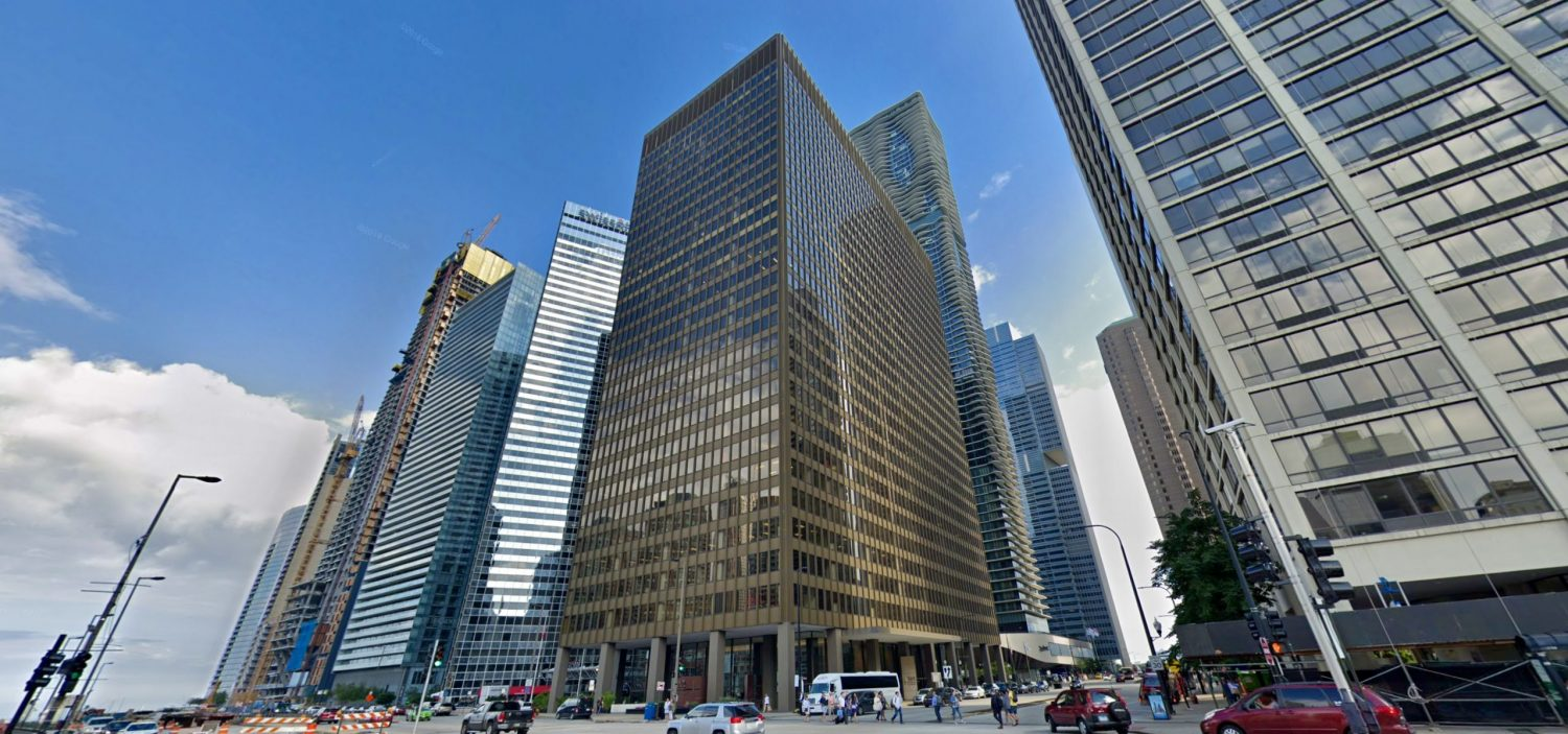 303 E Wacker Drive, prior to renovation