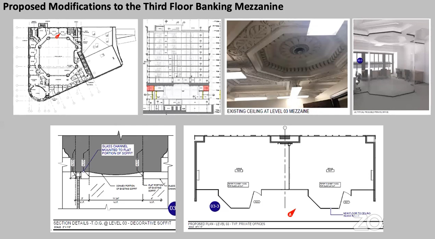 Third Floor Mezzanine Modifications for 4753 N Broadway. Drawings by Level Architecture