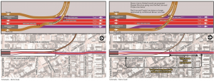 CTA Red-Purple Bypass Project before and after