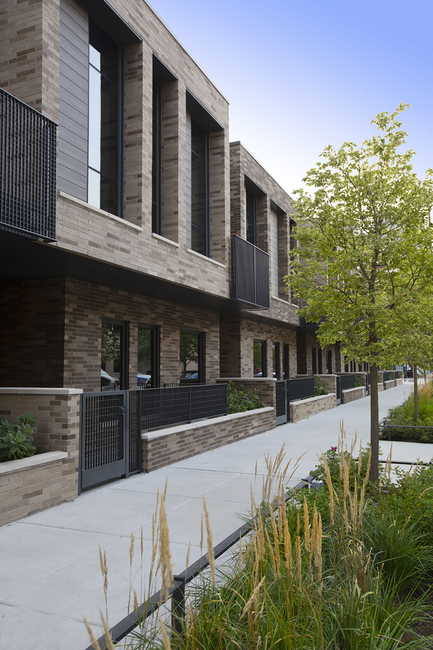 Townhome Exterior. Image by Lendlease and The John Buck Company