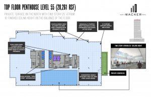 110 North Wacker Drive penthouse floor plate