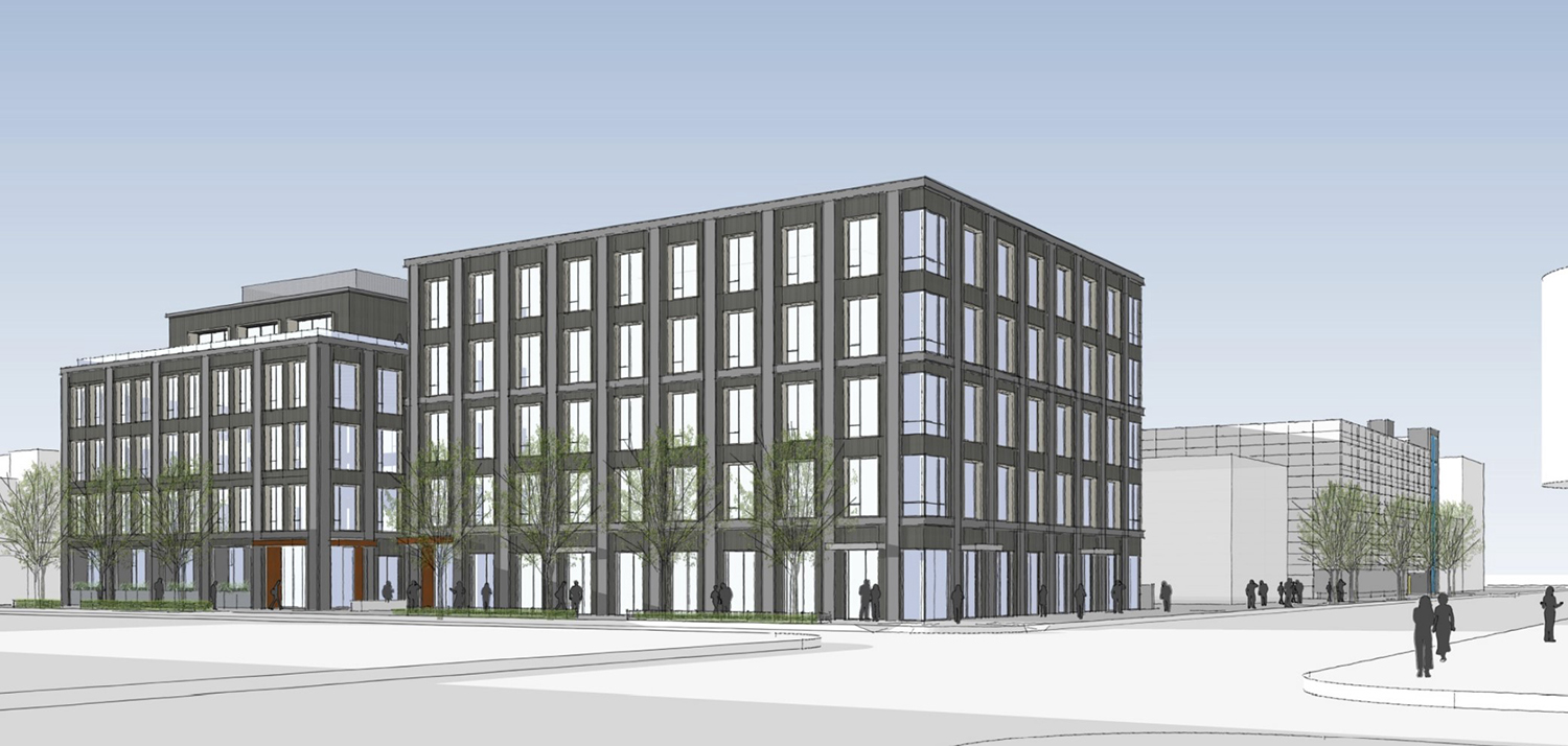 1131 and 1135 W Winona Street. Rendering by Booth Hansen